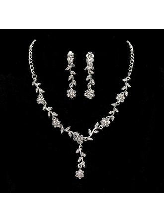 Jewelry Sets Alloy Cubic Zirconia Lobster Clasp Ladies' Wedding & Party Jewelry (011168192)