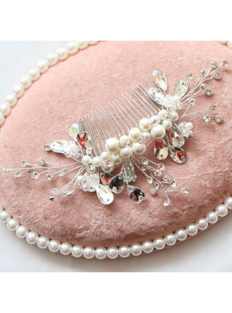 "Combs & Barrettes Wedding/Special Occasion/Party Alloy/Imitation Pearls 7.68""(Approx.19.5cm) 3.54""(Approx.9cm) Headpieces"