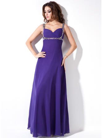 Chiffon Sweetheart Empire Sleeveless Delicate Evening Dresses