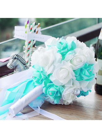 "Bridal Bouquets Wedding PE/Rhinestone 11.02""(Approx.28cm) 7.09"" (Approx.18cm) Wedding Flowers"
