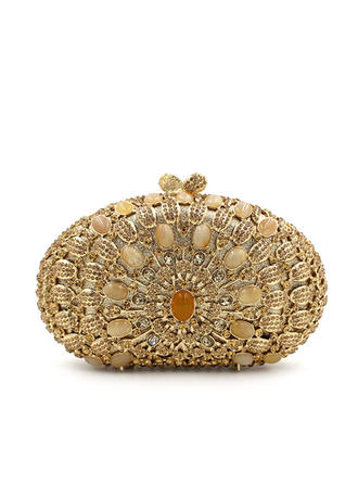 "Clutches/Luxury Clutches Wedding/Ceremony & Party Crystal/ Rhinestone Gorgeous 7.48""(Approx.19cm) Clutches & Evening Bags (012186942)"