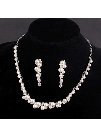 Jewelry Sets Alloy/Rhinestones/Imitation Pearls Rhinestone/Imitation Pearls Ladies' Romantic Wedding & Party Jewelry