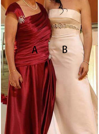 A-Line/Princess Square Neckline Floor-Length Mother of the Bride Dresses With Beading