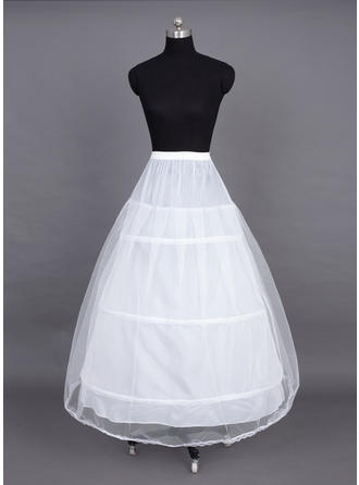 Petticoats Floor-length Nylon/Tulle Netting Full Gown Slip 2 Tiers Petticoats
