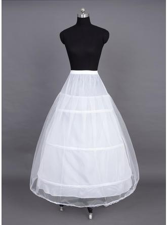 Unterröcke Bodenlang Nylon/Tüll Netting Volle Kleid Gleiten 2 Ebenen Reifröcke