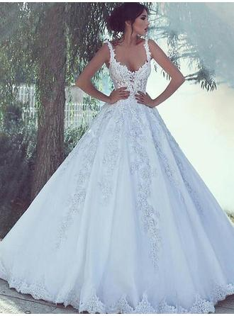 Floor-Length Ball-Gown - Tulle Beautiful Wedding Dresses