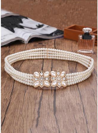 Women Imitation Pearls Belt Beautiful Sashes & Belts