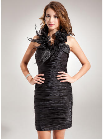 Glamorous Sheath/Column Organza Cocktail Dresses
