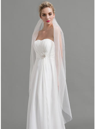 Waltz Bridal Veils Tulle One-tier Classic With Cut Edge Wedding Veils