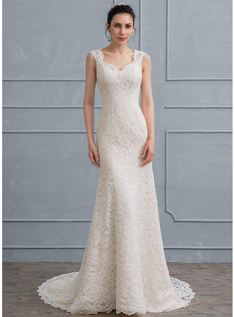 Lace Sheath/Column With Glamorous General Plus Wedding Dresses