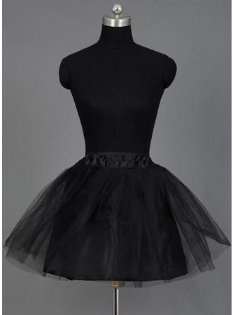Petticoats Short-length Nylon/Tulle Netting A-Line Slip/Half Slip 2 Tiers Petticoats
