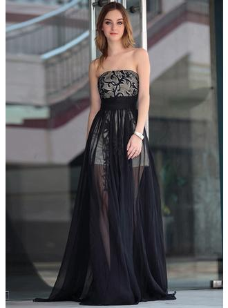 Floor-Length Homecoming Dresses With Embroidered