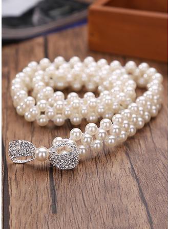 Women Imitation Pearls With Rhinestones Belt Fashional Sashes & Belts