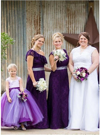dark purple flower girl dresses