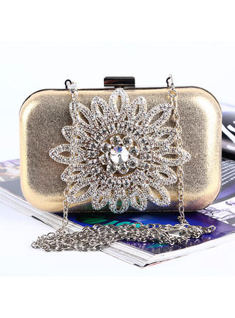 "Clutches/Satchel Wedding/Ceremony & Party Crystal/ Rhinestone/PU Lovely 6.3""(Approx.16cm) Clutches & Evening Bags"