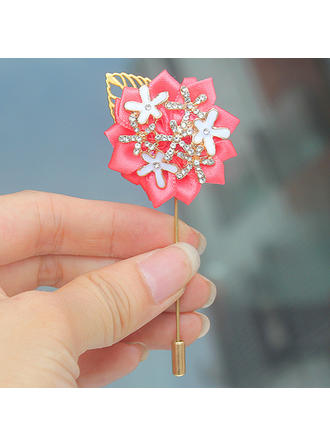 "Boutonniere Free-Form Wedding/Party Satin 1.57"" (Approx.4cm) Wedding Flowers"