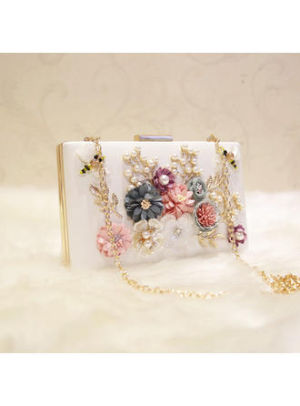 "Clutches Wedding/Ceremony & Party PU/Alloy Fashional 7.87""(Approx.20cm) Clutches & Evening Bags"