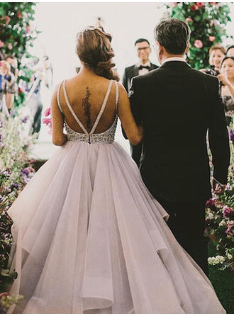 long sparkly wedding dresses