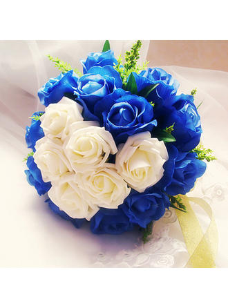 Bridal Bouquets Free-Form Wedding Satin/Artificial Silk Eye-catching Wedding Flowers