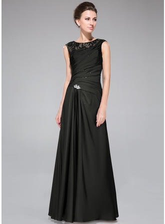 2019 New Floor-Length A-Line/Princess Lace Satin Chiffon Mother of the Bride Dresses