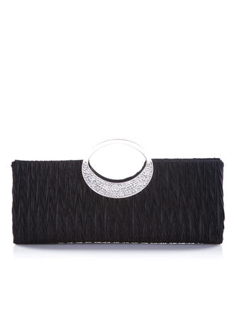 Clutches Wedding/Ceremony & Party Satin Snap Closure Gorgeous Clutches & Evening Bags
