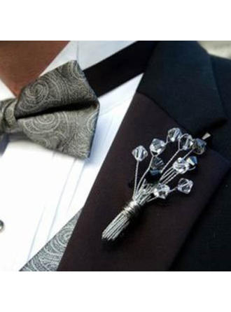 "Boutonniere/Men's Accessories Hand-tied Wedding/Party Crystal 3.94""(Approx.10cm) Wedding Flowers"