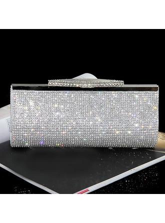Clutches/Fashion Handbags Casual & Shopping/Office & Career Crystal/ Rhinestone Clip Closure Shining Clutches & Evening Bags