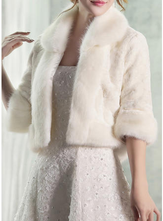 Wrap Fashion Artificial Wool White Wraps