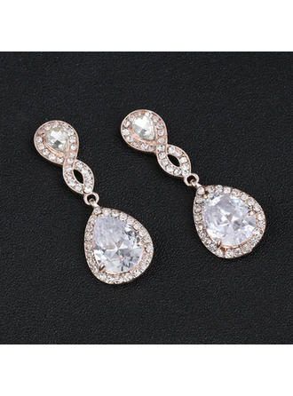 Earrings Alloy/Rhinestones Pierced Ladies' Beautiful Wedding & Party Jewelry (011167295)