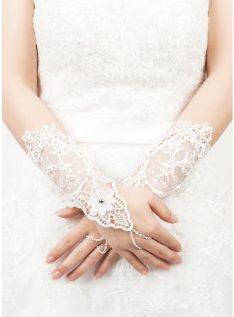 Lace Wrist Length Party/Fashion Gloves Fingerless 23cm(Approx.9.06inch) Gloves