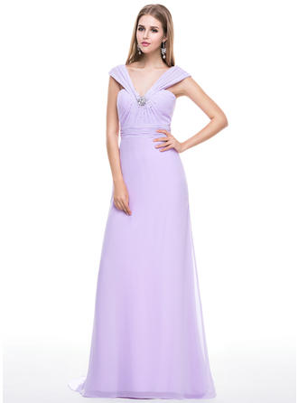 Luxurious Chiffon Trumpet/Mermaid Zipper Up Evening Dresses