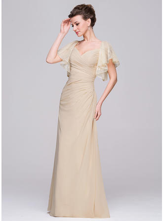 A-Line/Princess Sweetheart Floor-Length Chiffon Mother of the Bride Dress With Ruffle