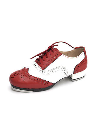 Unisex Tap Flats Real Leather Dance Shoes