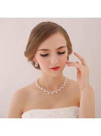 Jewelry Sets Alloy/Zircon/Imitation Pearls Earclip Ladies' Romantic Wedding & Party Jewelry