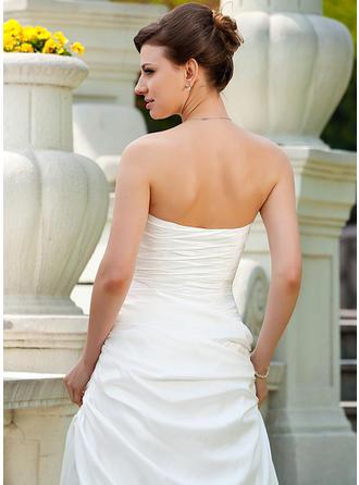 a line tea length wedding dresses