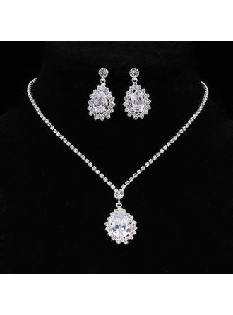 Jewelry Sets Alloy/Rhinestones Rhinestone Lobster Clasp Pierced Wedding & Party Jewelry (011167865)