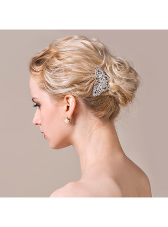 "Combs & Barrettes Wedding/Special Occasion/Casual/Party Rhinestone/Alloy 2.56""(Approx.6.5cm) 2.36""(Approx.6cm) Headpieces"
