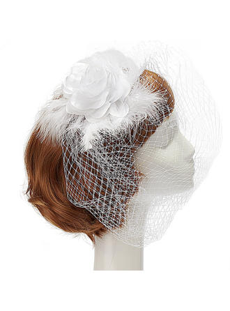 "Fascinators Wedding/Party Artificial Silk/Net Yarn/Feather 7.87""(Approx.20cm) 7.87""(Approx.20cm) Headpieces"