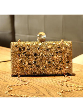 Clutches Wedding/Ceremony & Party PU Push-lock frame closure Delicate Clutches & Evening Bags