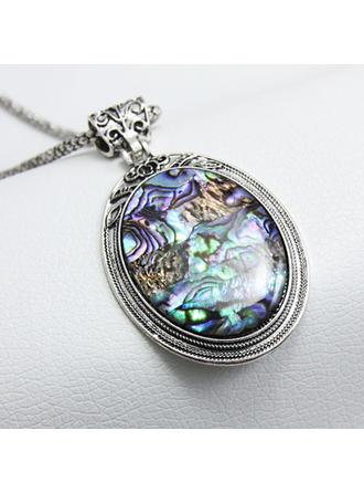 Exquisite Alloy/Shell Ladies' Necklaces