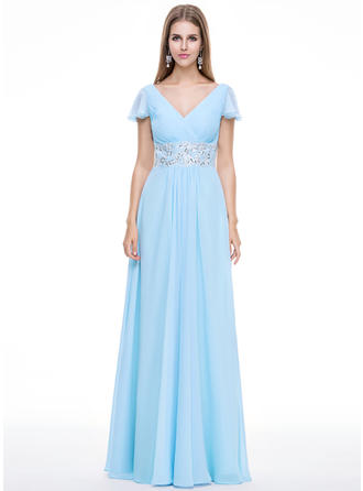 2019 New Chiffon A-Line/Princess Zipper Up Evening Dresses