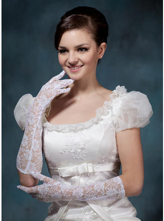 Lace Ladies' Gloves Elbow Length Bridal Gloves Fingertips Gloves