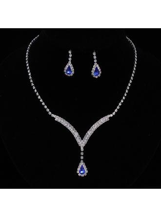 Gorgeous Legering/Strass Kvinnor/Damer' Smycken Sets