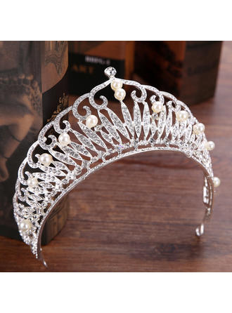 "Tiaras Wedding/Party Rhinestone/Alloy 5.91""(Approx.15cm) 2.76""(Approx.7cm) Headpieces"