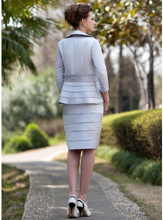 navy and silver mother of the bride dresses