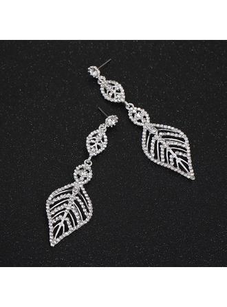 Earrings Alloy/Rhinestones Pierced Ladies' Unique Wedding & Party Jewelry