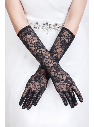 Tulle Ladies' Gloves Elbow Length Bridal Gloves Fingertips Gloves