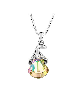 Necklaces Crystal/Platinum Plated Lobster Clasp Ladies'/Child's Christmas Bell Wedding & Party Jewelry