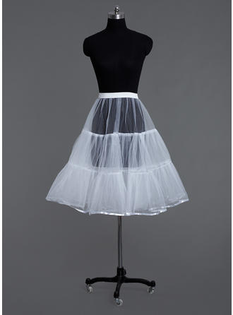 Petticoats Tea-length Tulle Netting A-Line Slip 2 Tiers Petticoats