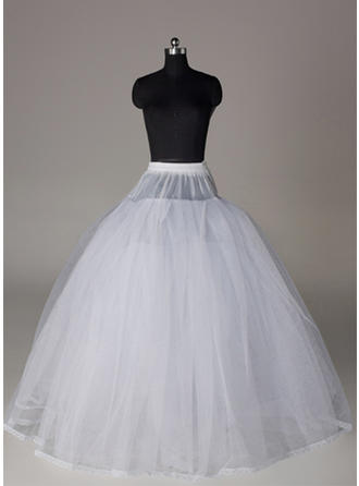 Bustle Floor-length Tulle Netting/Satin Full Gown Slip 4 Tiers Petticoats (037190849)
